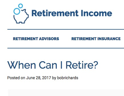 Retirement Income blog