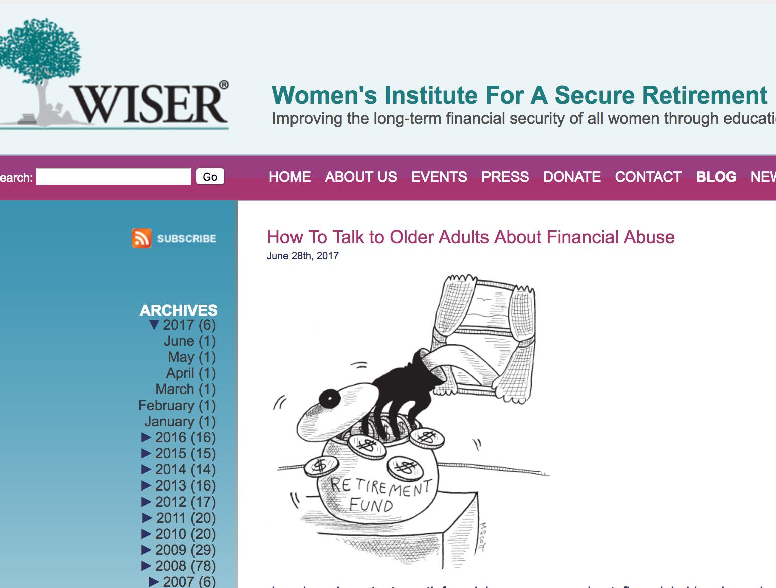 Wiser blog