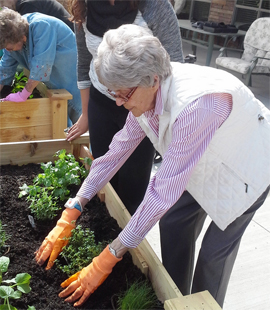 ... Alpine Meadows Assisted Living   Meridian, ID   Resident Gardening
