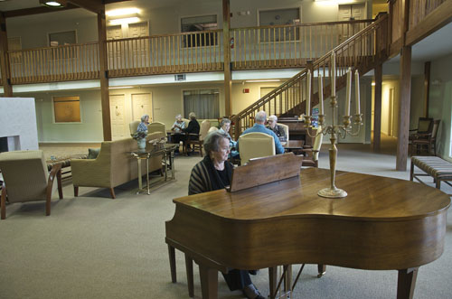 Arbor Court Retirement Community at Alvamar - Lawrence, KS - Piano Lounge