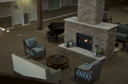 Arbor Court Retirement Community at Salina - Salina, KS - Fireside Lounge