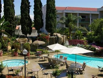 Arcadia Gardens Retirement Hotel, CA - Courtyard