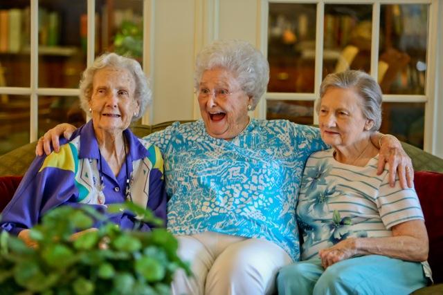 Azalea Estates of Monroe, LA - Residents Laughing