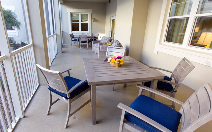 Beach House Assisted Living and Memory Care - Jacksonville Beach, FL - Porch