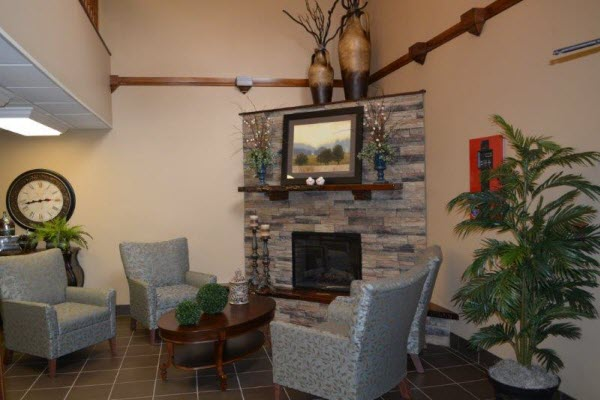 Bethany Village Assisted Living - Indianapolis, IN - Fireplace Lounge