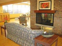 East Lake Nursing & Rehabilitation Center - Elkhart, IN - Fireplace Lounge