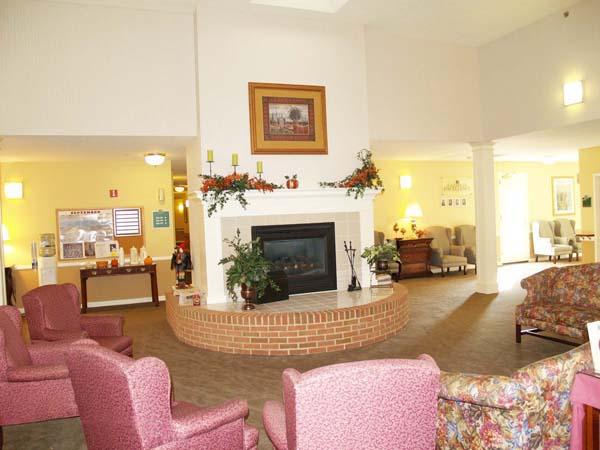 Elmcroft of Lebanon, PA - Fireplace Lounge