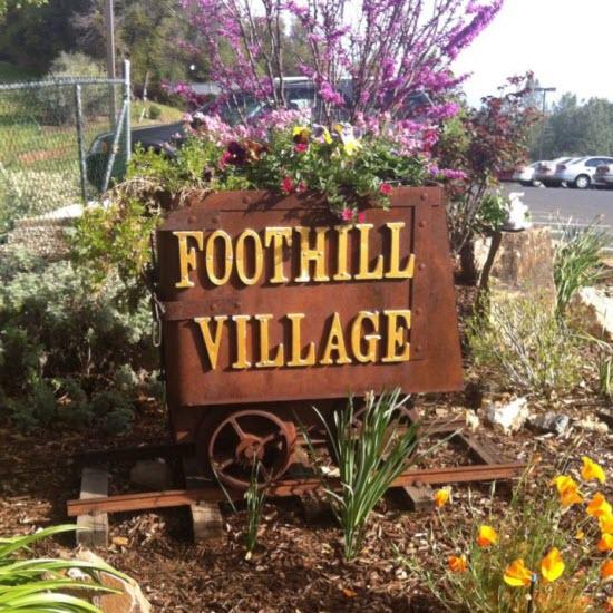 Foothill Village Senior Living Community - Angel's Camp, CA - Sign