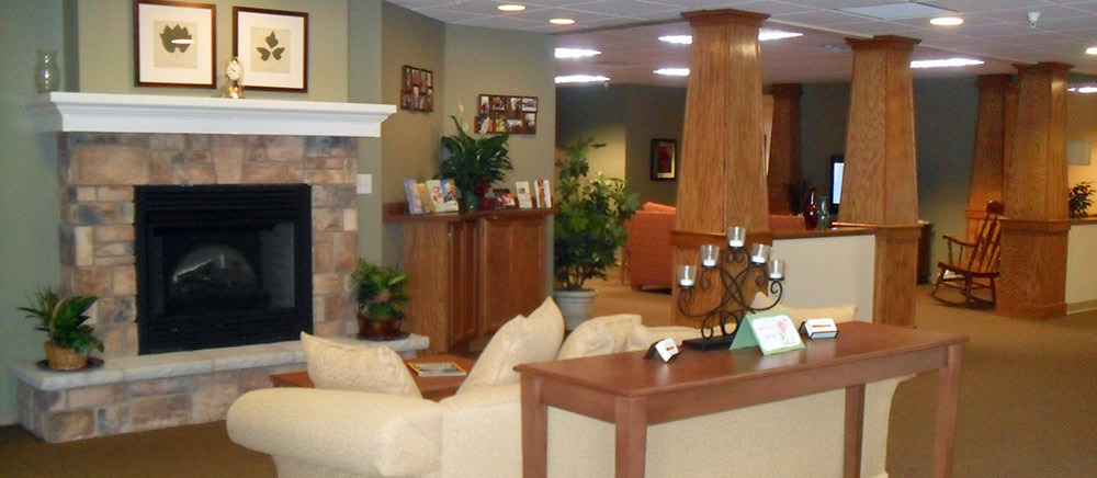 Gardenview Assisted Living Memory Care - Calumet, MI - Fireplace Lounge