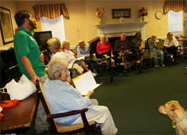 Greenville Glen, SC - Resident sing-along