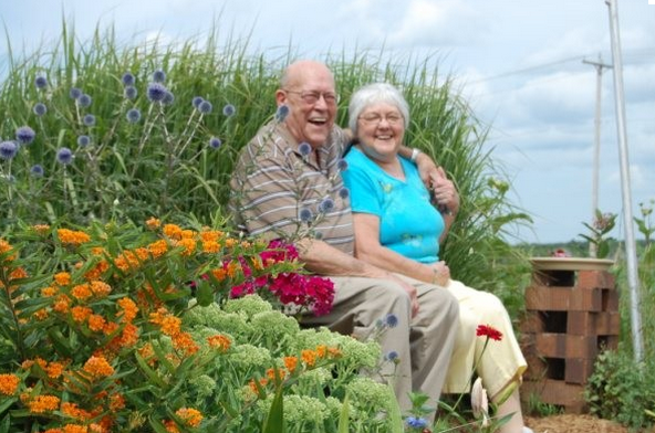 Heritage Homes - Watertown, WI - Couple Sitting in Garden