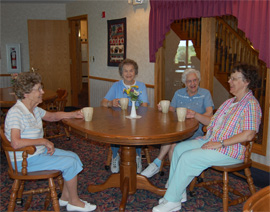 Heritage Homes - Watertown, WI - Residents Chatting