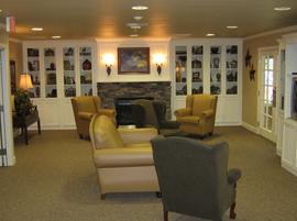 Hudson Creek Alzheimer's Special Care Center - Bryan, TX - Fireplace Lounge