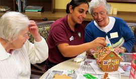 Amber Grove Place - Chico, CA - Residents Making Gingerbread House