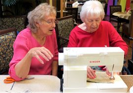 Amber Grove Place - Chico, CA - Residents Sewing