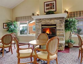 Brookdale Vacaville, CA - Fireplace Lounge