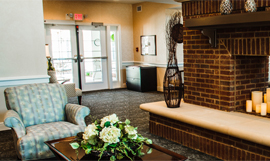 Country Place Senior Living of Foley, AL - Fireplace Lounge