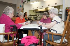 Reflections at Garden Place - Columbia, IL - Residents Playing Cards
