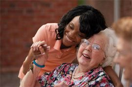 HarborChase of Rock Hill, SC - Caregiver and resident