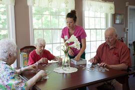 Kirkwood Corners - Lee, NH - Residents Making Puzzles