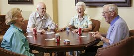 Presbyterian Village North - Dallas, TX - Residents Playing Cards