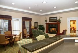 The Waterford at Richmond Heights, OH - Fireplace Lounge