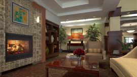 Waterford Grand - Eugene, OR - Fireplace Rendering