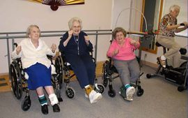 Wesley Manor Retirement Commnity - Louisville, Kentucky - Skilled Nursing Exercise Class