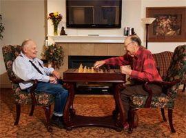 Wildflower Lodge - LaGrande, OR - Residents Playing Chess