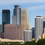 The cityscape of Minneapolis, Wisconsin