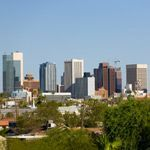 The cityscape of downtown Phoenix, Arizona