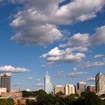 Clouds over the skyline of Raleigh, North Carolina