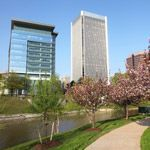 Spring time in downtown Richmond, Virginia