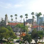 The city skyline of Riverside, California