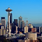 The Space needle and skyline in Seattle, Washington