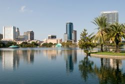 Orlando, FL (Florida) as seen from across the water