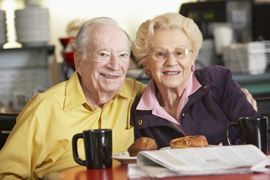 Bayview Senior Assisted Living - San Diego, CA - Couple having breakfast