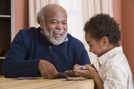 Clayton Oaks Living - Richmond, TX - Grandfather with grandson