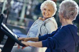 Benchmark Senior Living at Woburn, MA - Women exercising