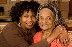 Elderly African-American woman and her rock star caregiving daughter