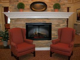 HarborChase at Plainfield, IL - Fireplace