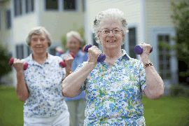 Women exercising at Howard Village - Saint Francis, Wisconsin