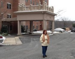 Joan outside her condo in Baltimore