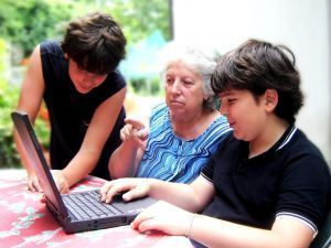 Caregivers embrace social media.