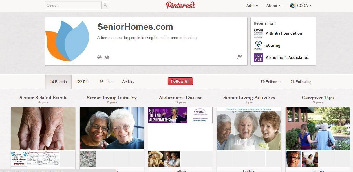 SeniorHomes.com on Pinterest