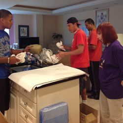 Joan London with Senior Moving Company Employees - July 2013