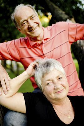 An active husband and wife senior couple