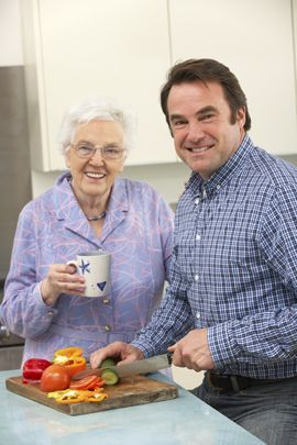 Cooking with a senior with dementia