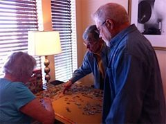 Puzzle making is one many activities available at Margery's CCRC