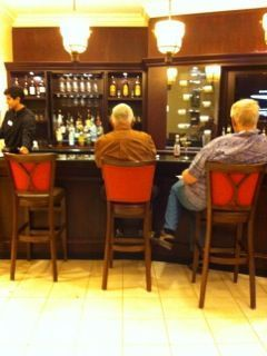 Dining at the bar in The Lodge